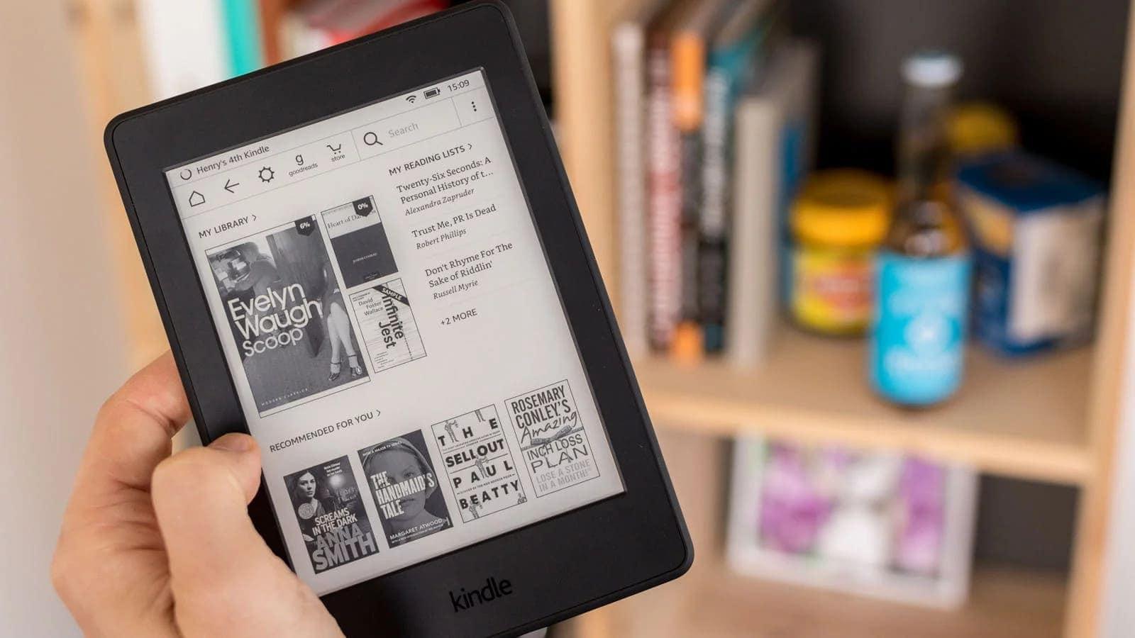 Kindle Paperwhite na cesty