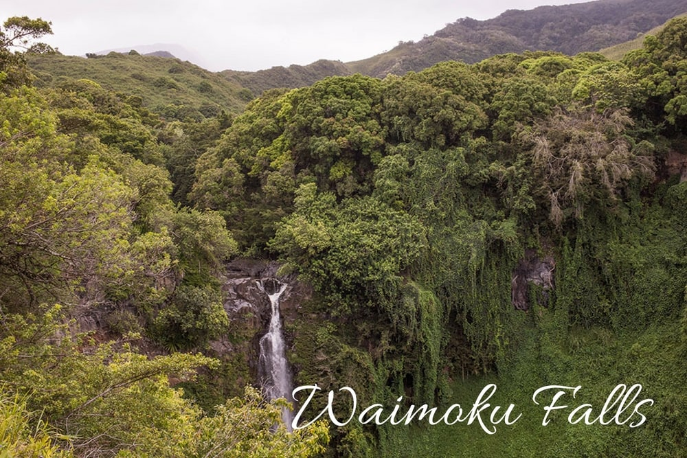 waimoku falls maui hawaii