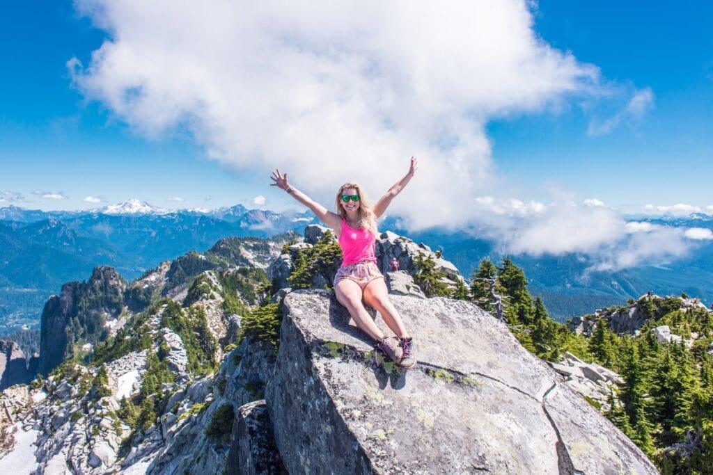 Mt. Pilchuk je hodně vytížená trail plná Američanů