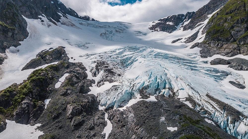 ledovec whittier alaska aljaska