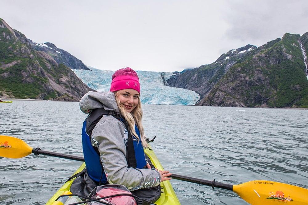 kajakování glacier seward