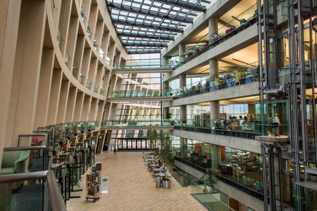 Úchvatná knihovna v Salt Lake City