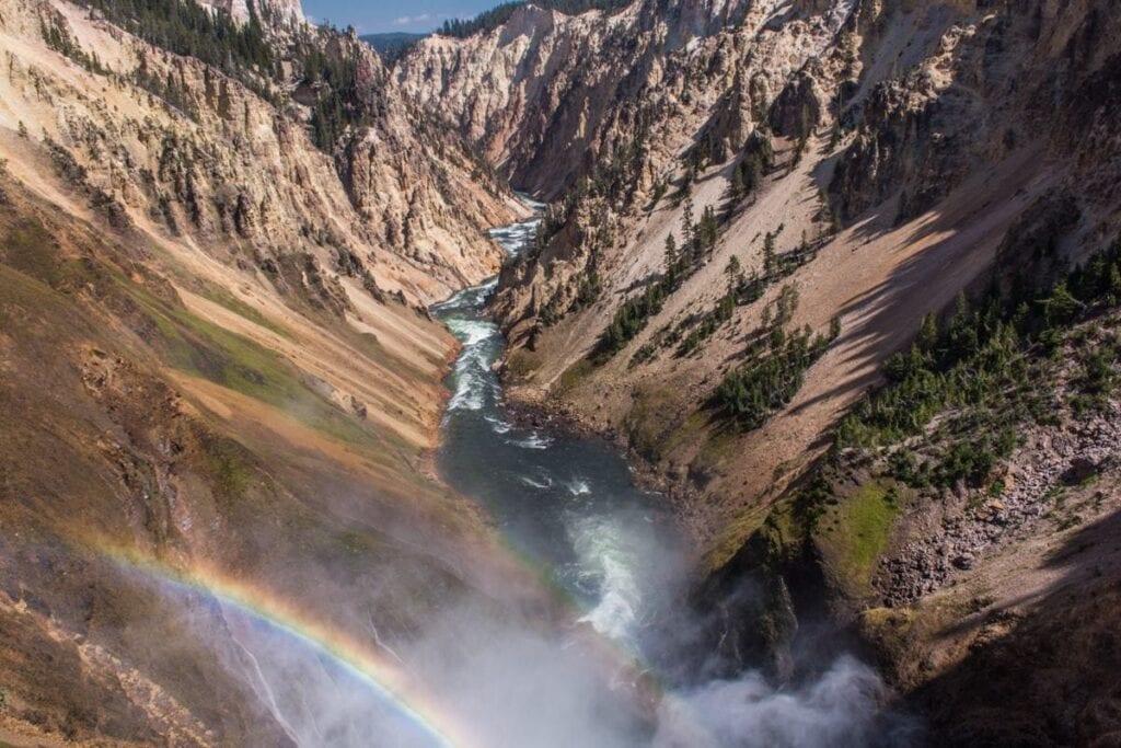 Canyon v Yellowstonu