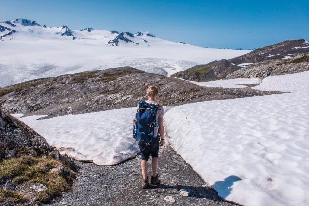 Výstup k Exit Glacier se nám nakonec povedl lépe, než jsme čekali