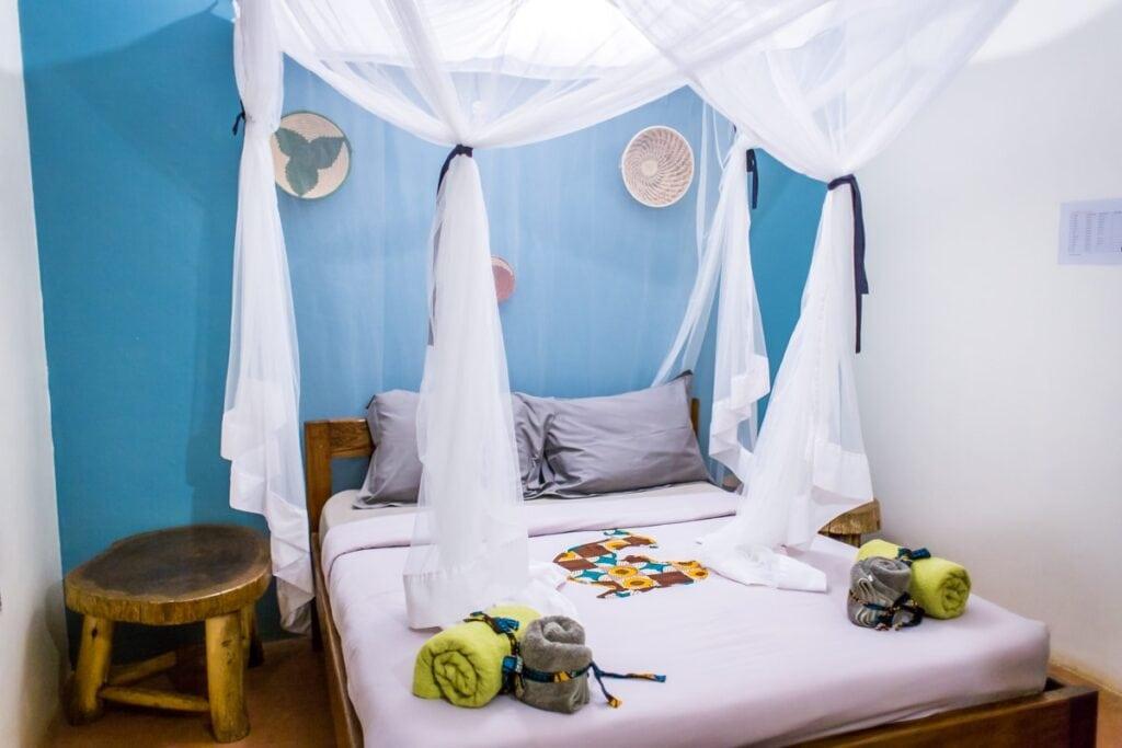 Moskitiéra není jen něco na ozdobu. Uganda má jedno z nejvyšších rizik malárie.