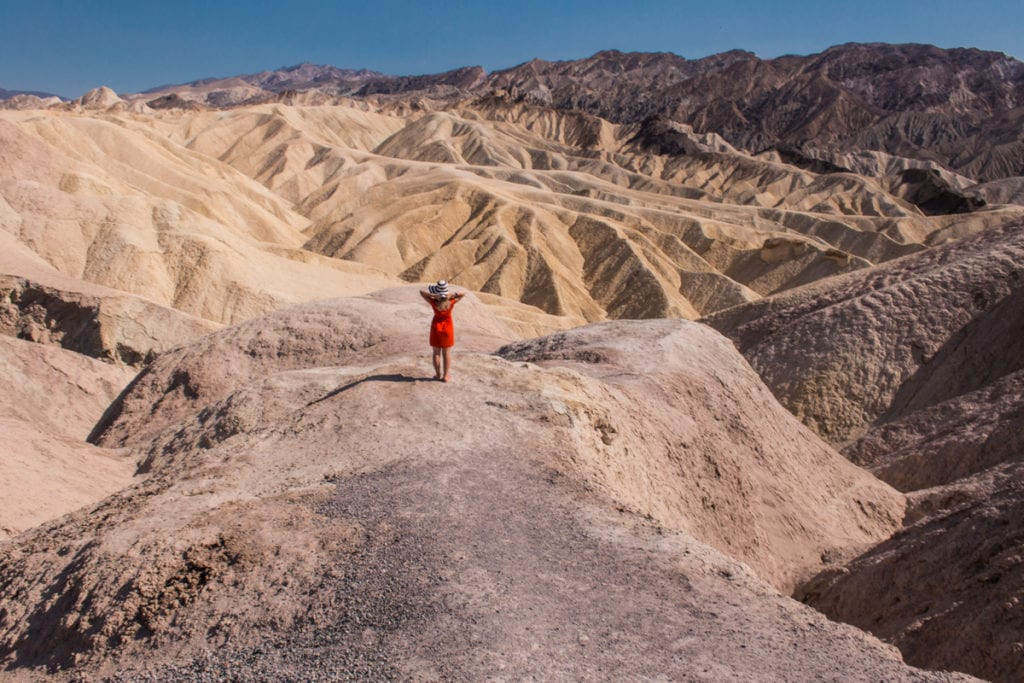 Jedno z ikonických míst Death Valley
