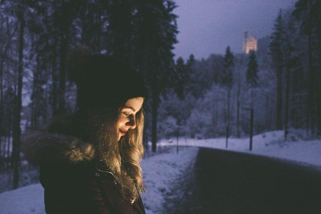 Noční romantika po sněhové vánici