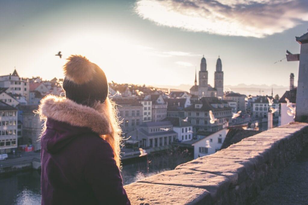 Nádherné ráno v Zurichu