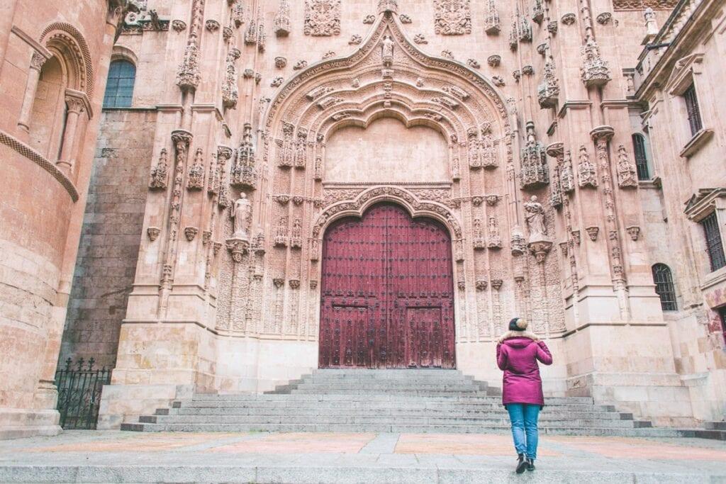 Mohutná katedrála v Salamance