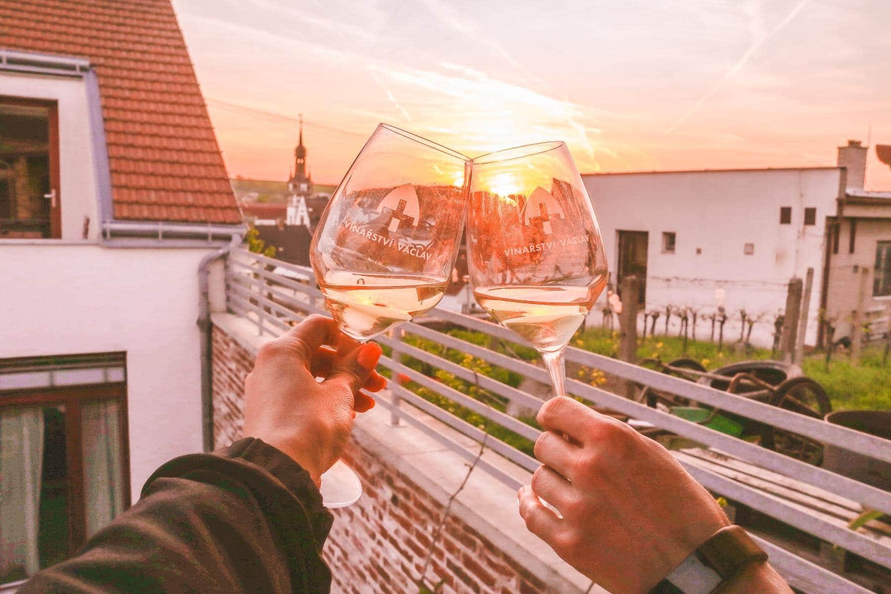 Západ slunce ve vinařství Václav