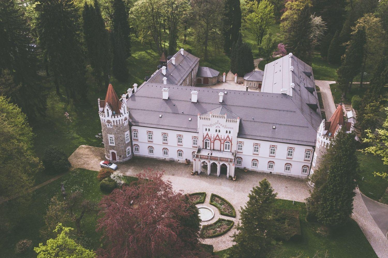 Chateau Heralec z vysky