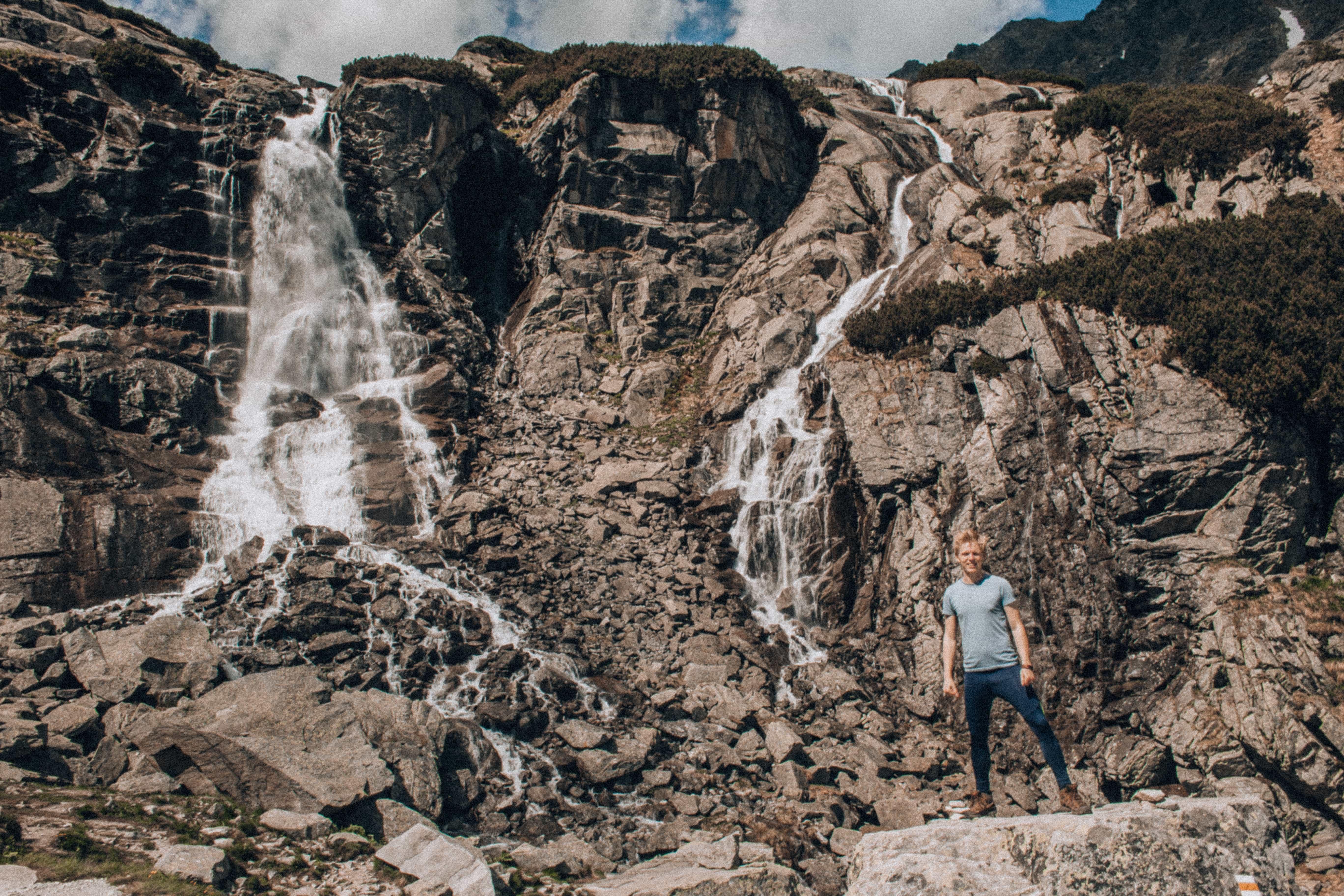 Vodopád Skok a Lukášova státnická póza