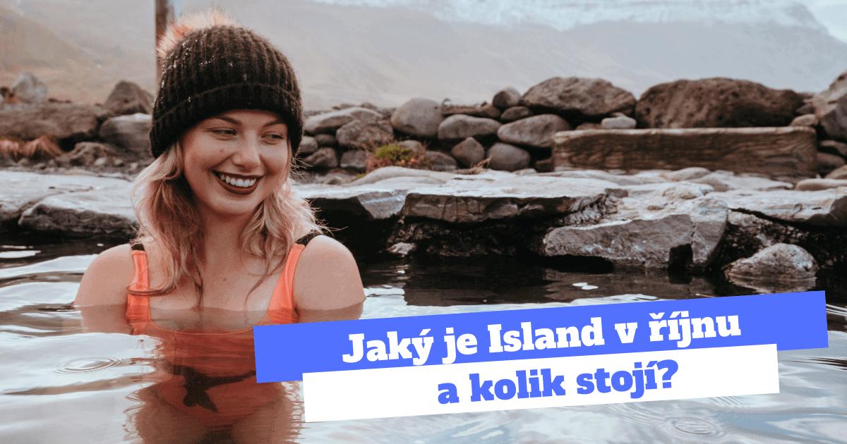 Slečna v termálním jezírku na Islandu