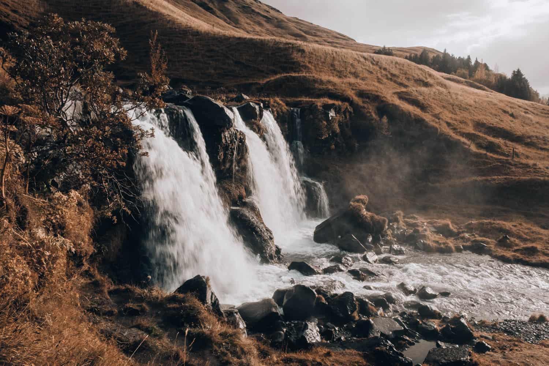 Část vodopádu Glugafoss