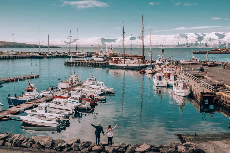 Nádherné přístavní městečko Húsavík