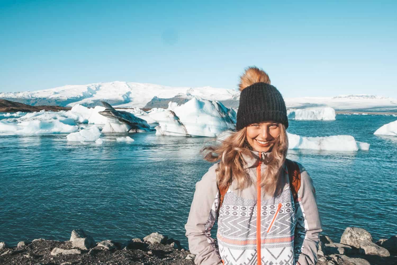 Jokulsarlon, ledovcové jezero