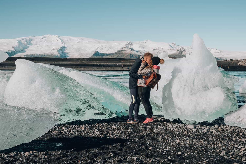 Ledovcové jezero na Islandu