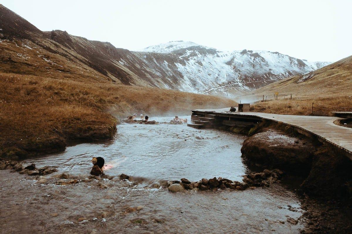 Horká řeka na Islandu