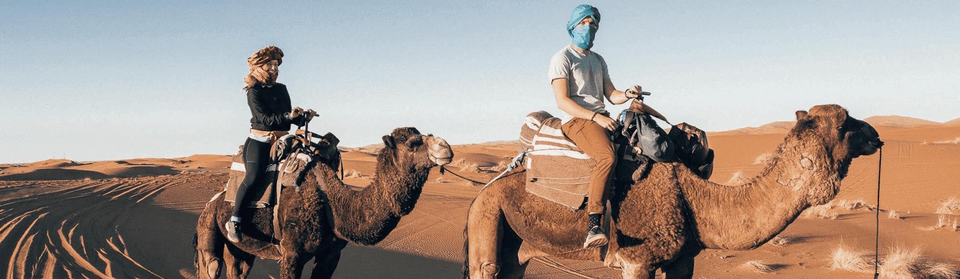 Cestování po Africe - jízda na velbloudovi