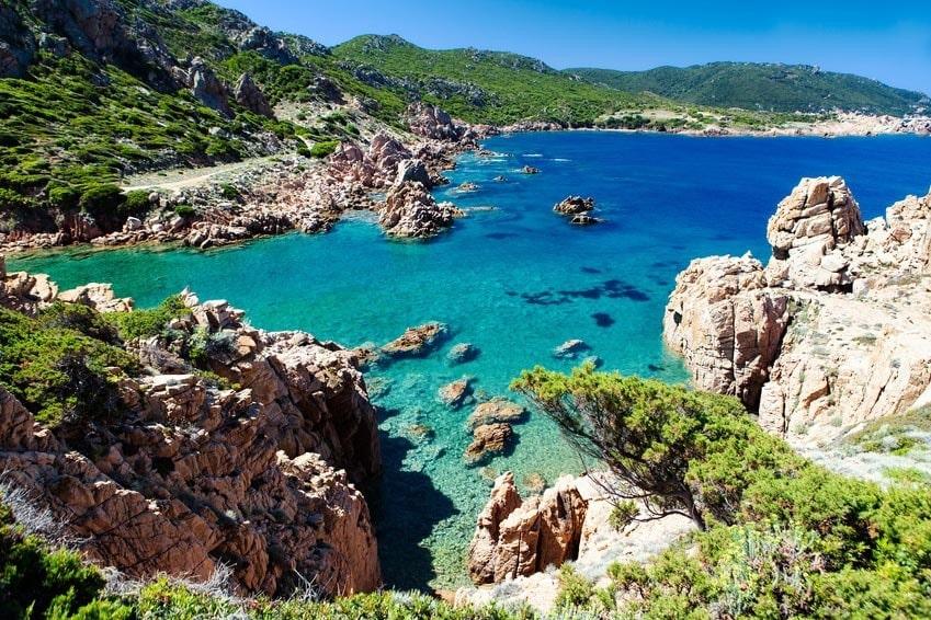 Nádherné moře na Sardinii
