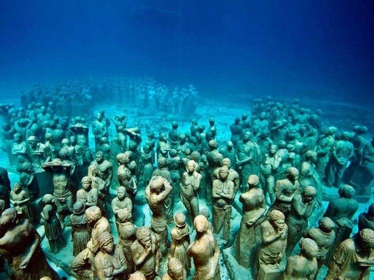 Podmořské muzeum na Yucatanu