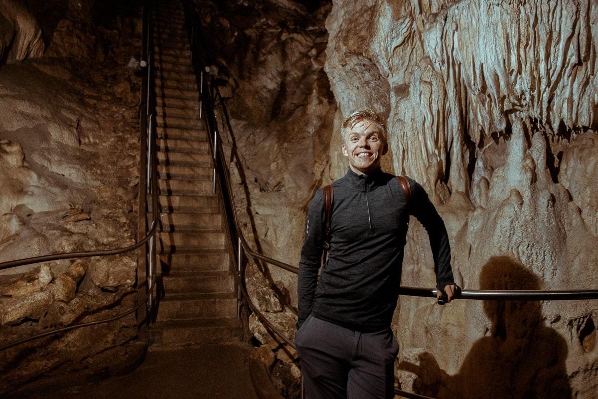 kluk v harmanecke jeskyni