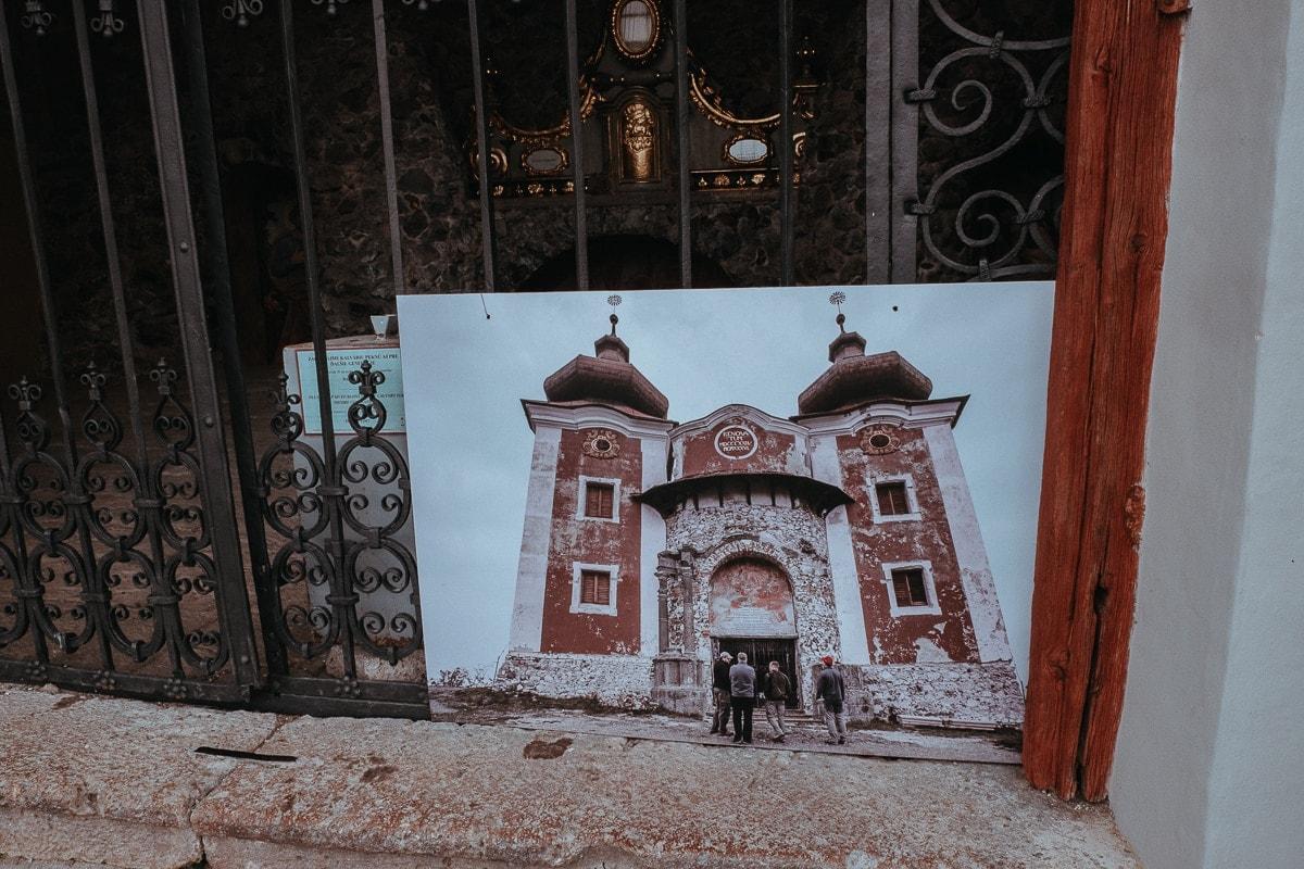 Štiavnická kalvárie před rekonstrukcí